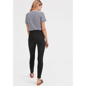 Everlane High Rise Skinny Ankle Jeans Black NWT